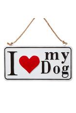 Raz Imports I HEART MY DOG SIGN