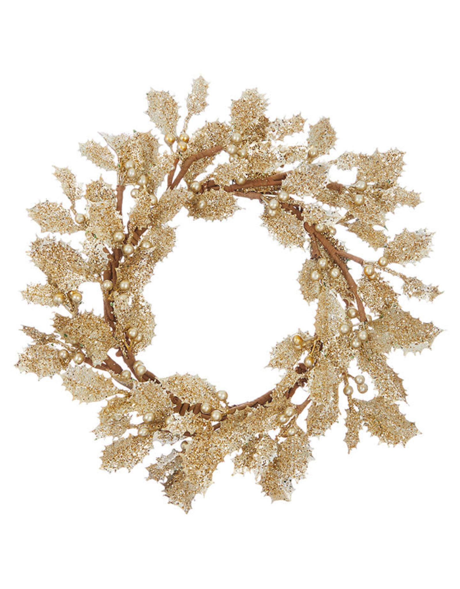 Raz Imports GOLD HOLLY CANDLE RING
