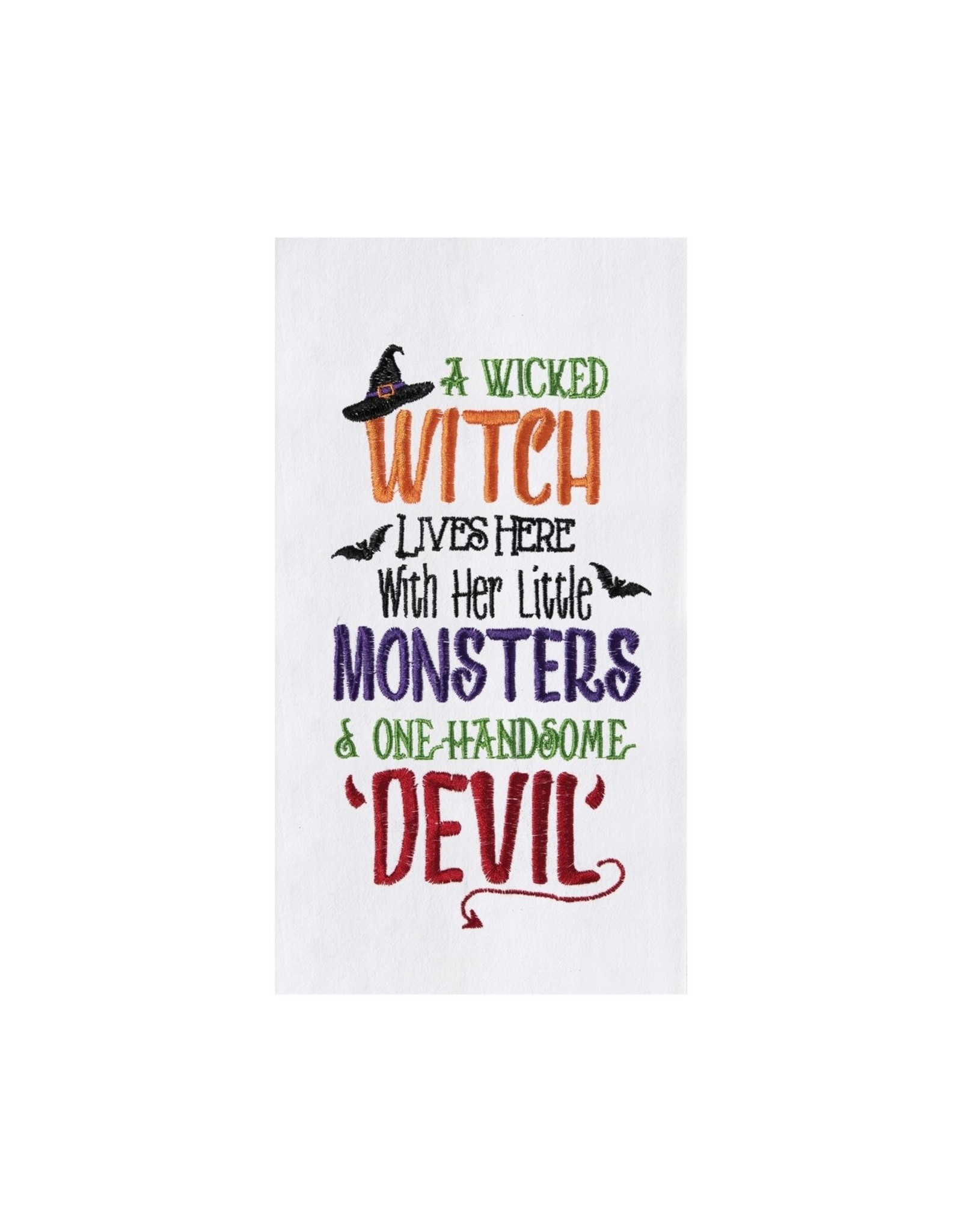 C and F Enterprises WITCH MONSTERS DEVIN KITCHEN TOWEL
