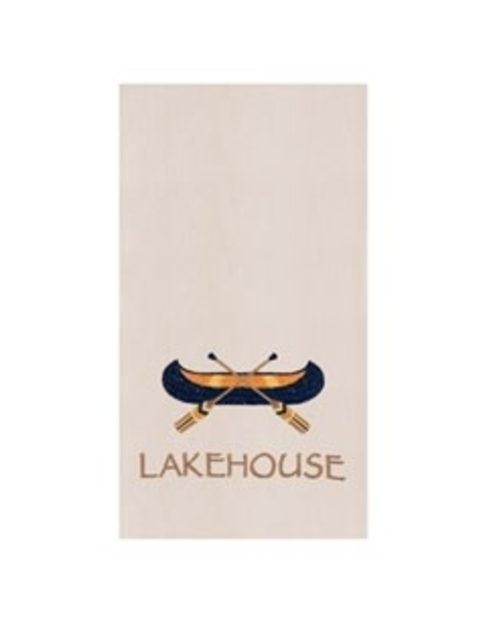 C and F Enterprises LAKEHOUSE CANOE KITCHEN TOWEL