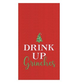 C and F Enterprises DRINK UP GRINCHES KITCHEN TOWEL