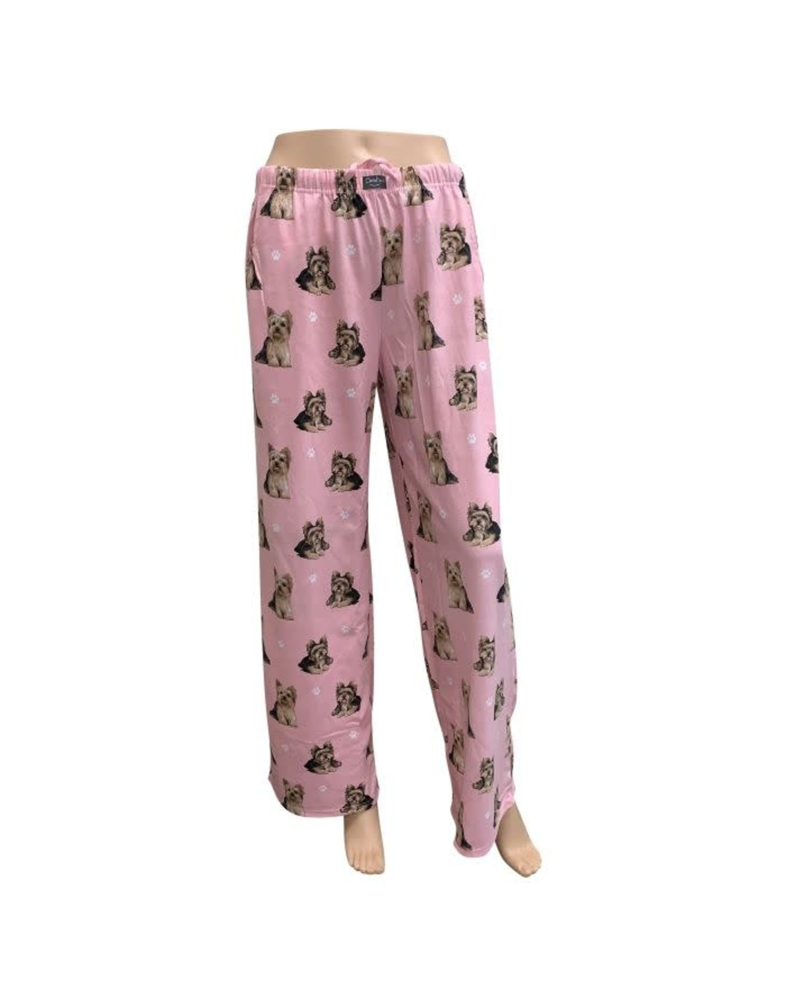 E and S YORKIE PAJAMA BOTTOMS