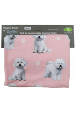 E and S BICHON FRISE PAJAMA BOTTOMS
