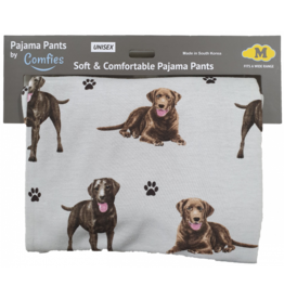 E and S CHOCOLATE LAB  PAJAMA BOTTOMS