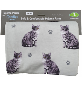 E and S SILVER TABBY PAJAMA BOTTOMS