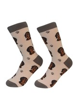 E and S DACHSHUND BLACK SOCKS
