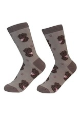 E and S LABRADOR CHOCOLATE SOCKS
