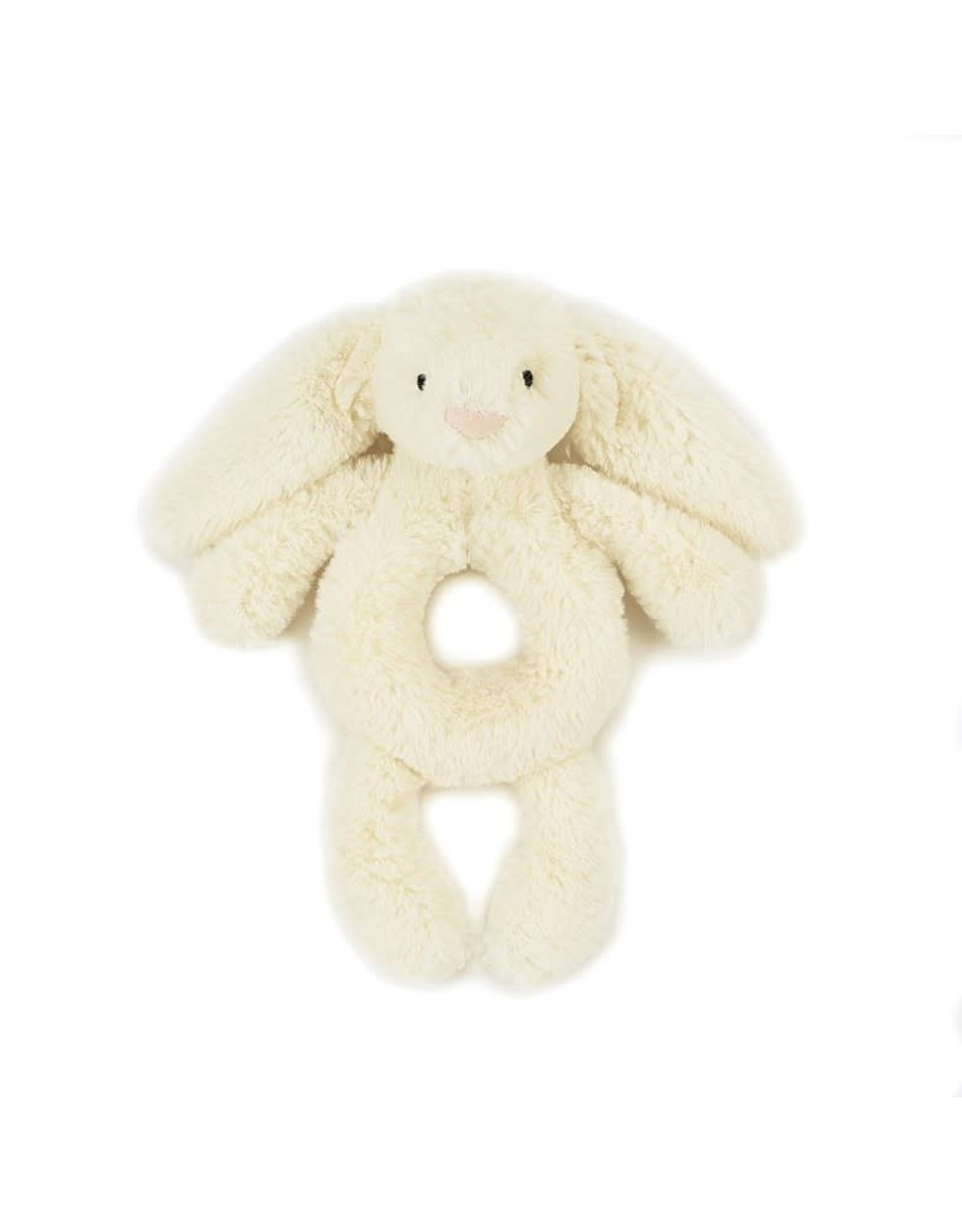 JellyCat BASHFUL BUNNY CREAM RING RATTLE