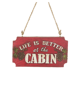 Ganz LIFE IS BETTER AT THE CABIN ORNAMENT
