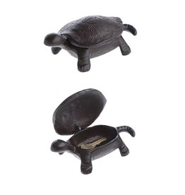 Creative Coop CAST IRON TURTLE KEY BOX 6X3