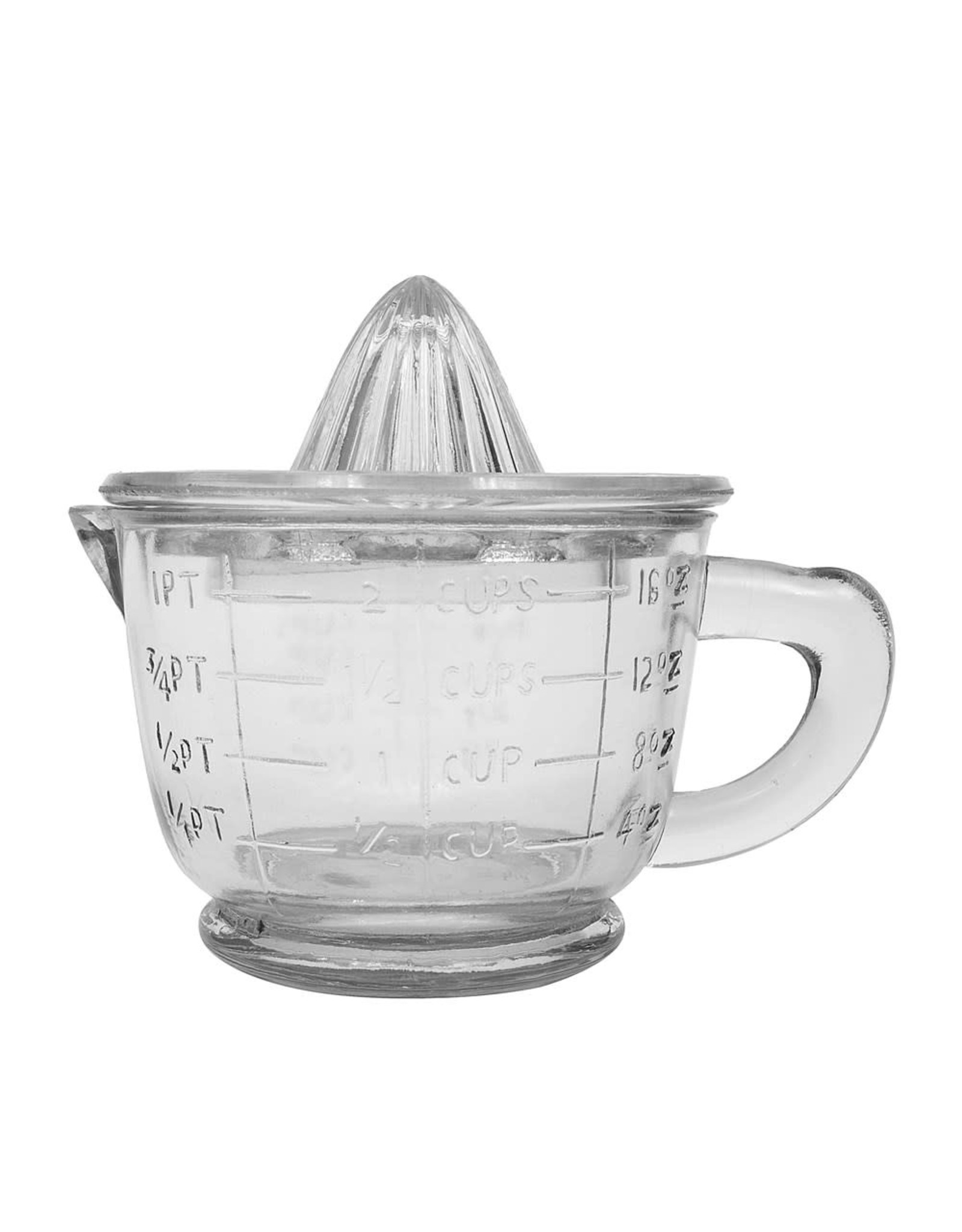 Creative Coop GLASS JUICER WITH MEASURING CUP
