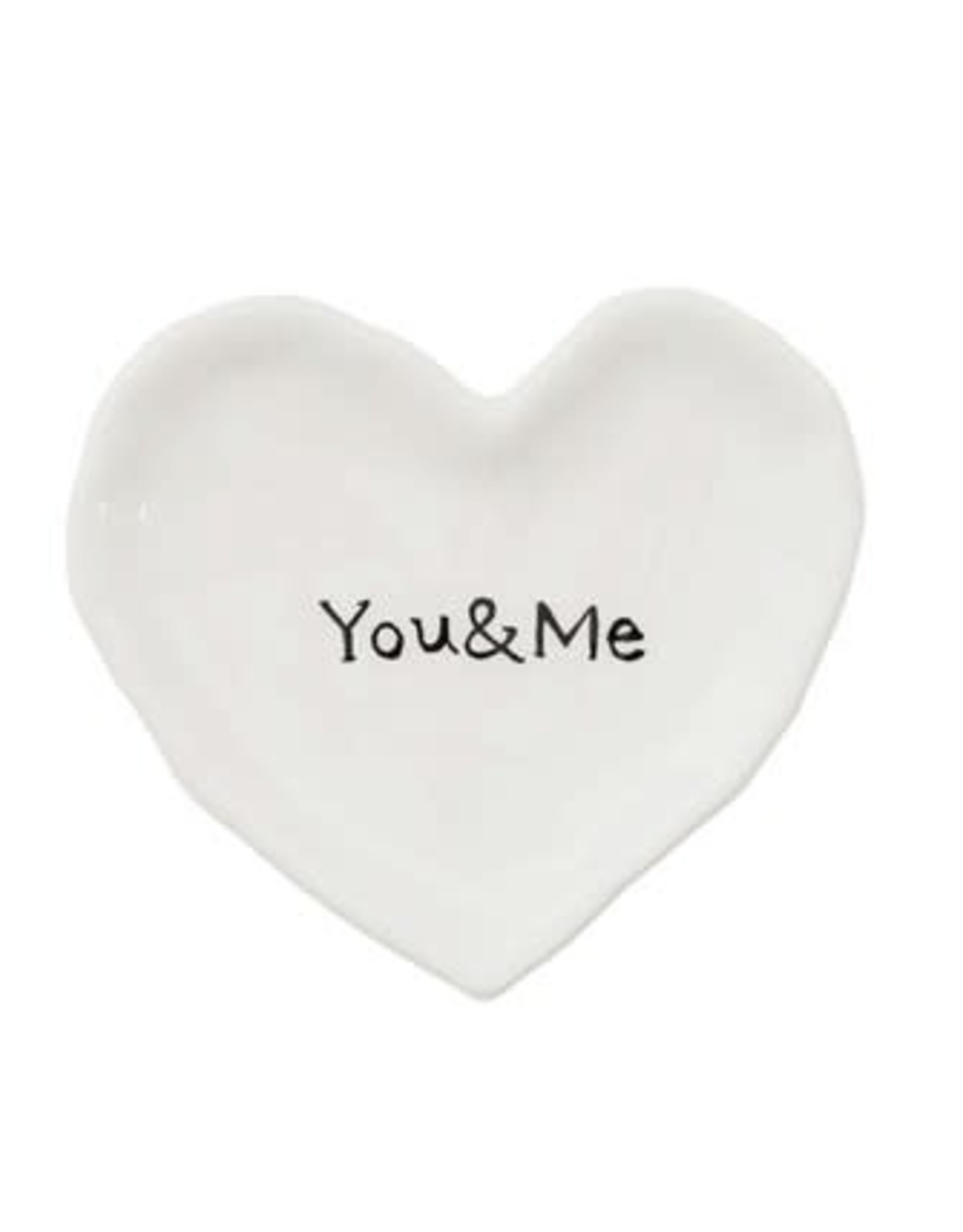 """Creative Coop YOU AND ME HEART DISH 4.5"""""""
