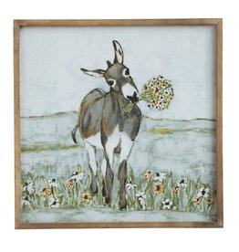 Creative Coop DONKEY WALL ART
