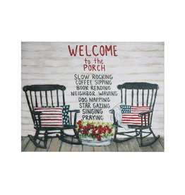 Creative Coop WELCOME TO THE PORCH METAL WALL DECOR