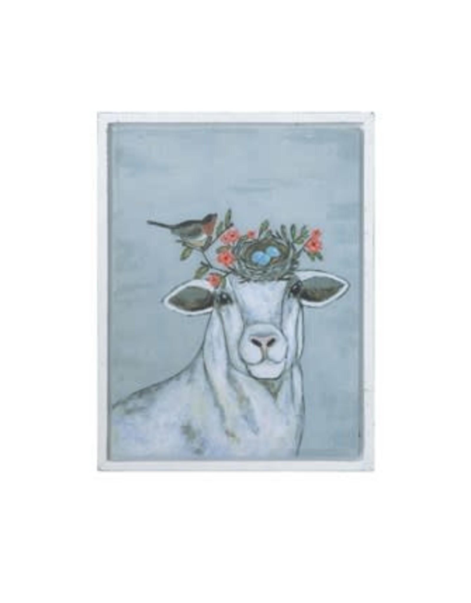 Creative Coop SHEEP AND BIRD WALL ART
