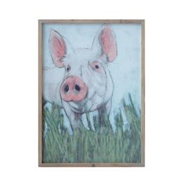 Creative Coop PIG WALL ART