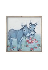 Creative Coop DONKEYS AND FLOWERS WALL ART