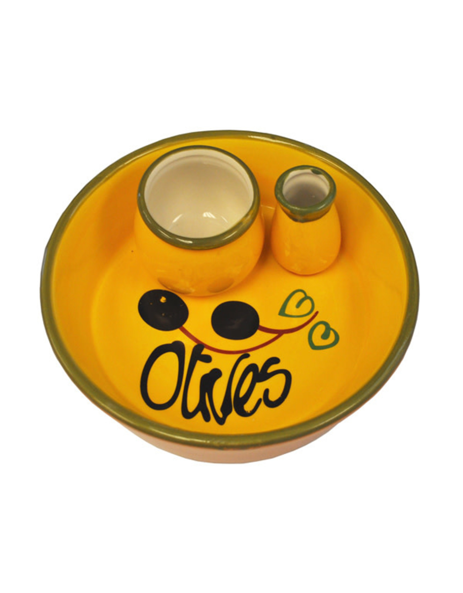 Naturally Med YELLOW OLIVE DISH