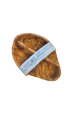Naturally Med OLIVE WOOD OLIVE DISH AND STABBER