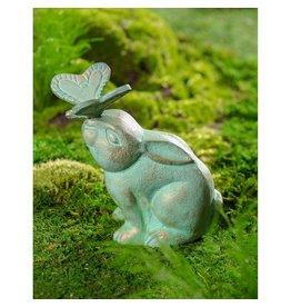 Evergreen RABBIT BUTTERFLY STATUARY