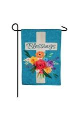 Evergreen BLESSINGS CROSS FLAG