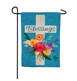 Evergreen BLESSINGS CROSS FLAG