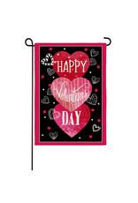 Evergreen VALENTINE'S HEART TRIO FLAG