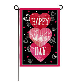 Evergreen VALENTINE'S HEART TRIO FLAG