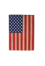 Evergreen BURLAP AMERICAN FLAG