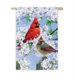 Evergreen GLORIOUS MORNING CARDINALS HOUSE FLAG