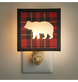 Park Designs SPORTSMAN PLAID BEAR NIGHT LIGHT