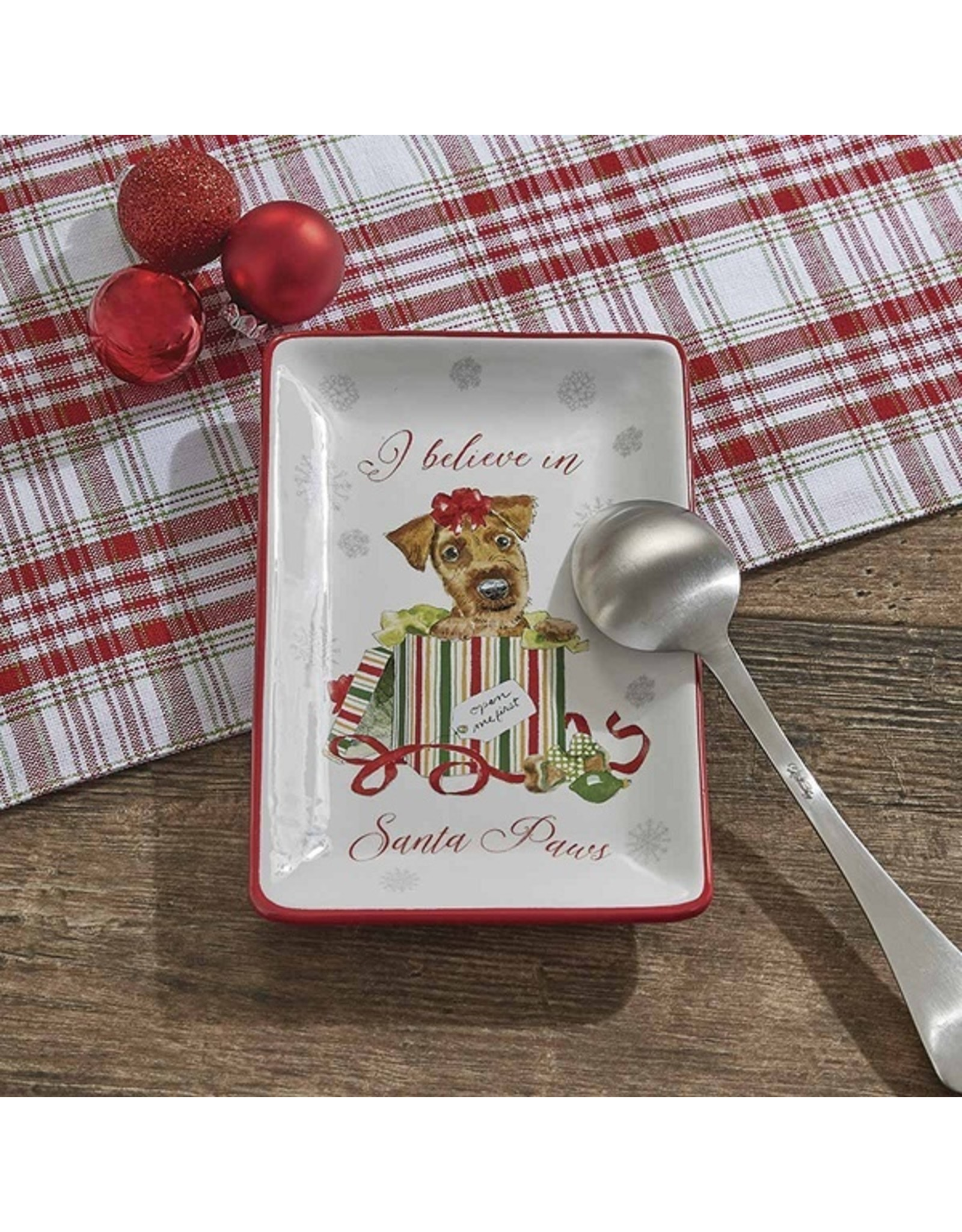 Park Designs HOLIDAY PAWS SPOON REST