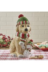 Park Designs HOLIDAY PAWS COOKIE JAR