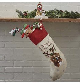 Park Designs HOLIDAY KISSES POODLE STOCKING
