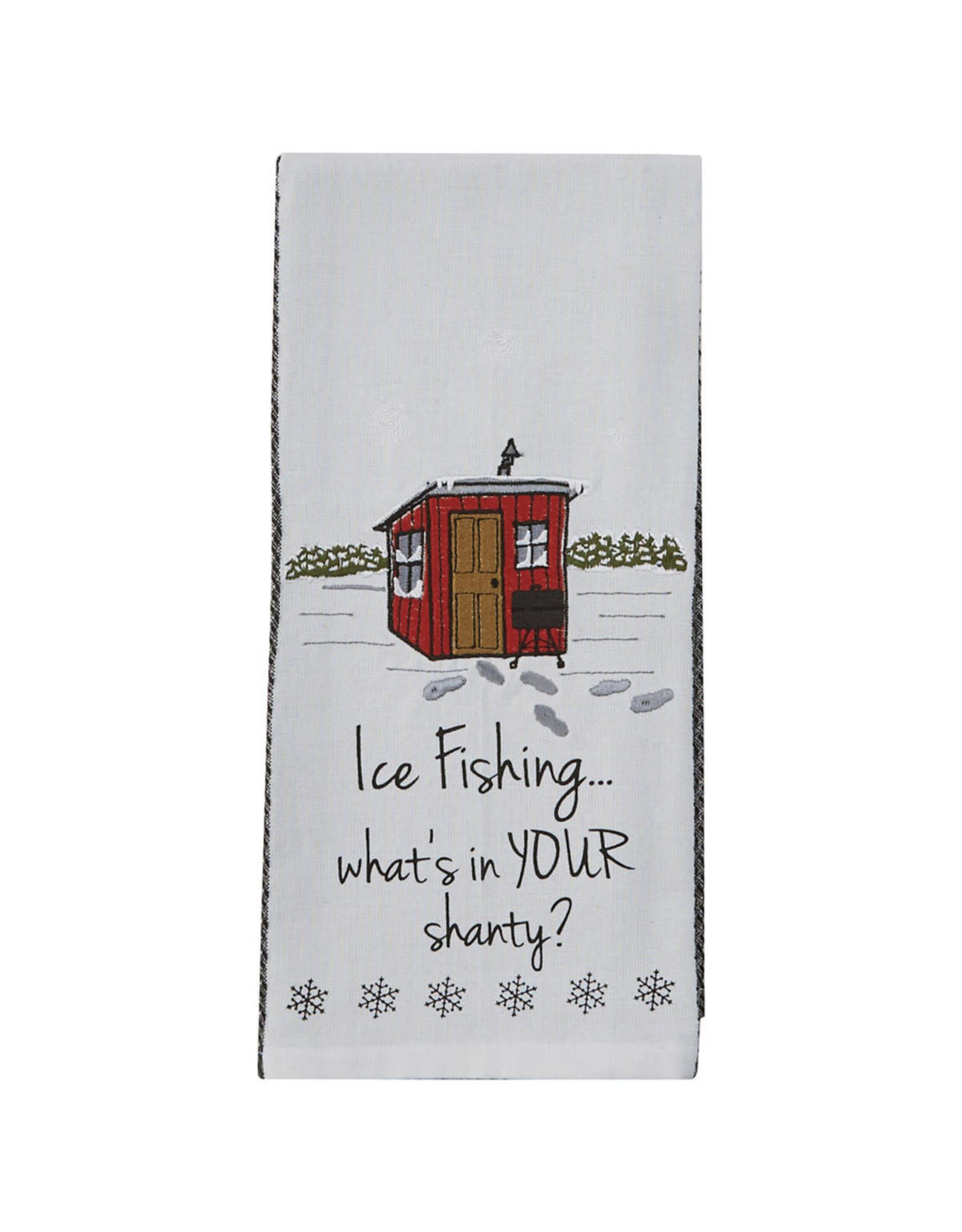 Park Designs ICE FISHING KITCHEN TOWEL