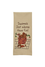 Park Designs SQUIRRELS JUST WANT TO HAVE FUN KITCHEN TOWEL