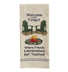 Park Designs WELCOME TO OUR FIREPIT KITCHEN TOWEL