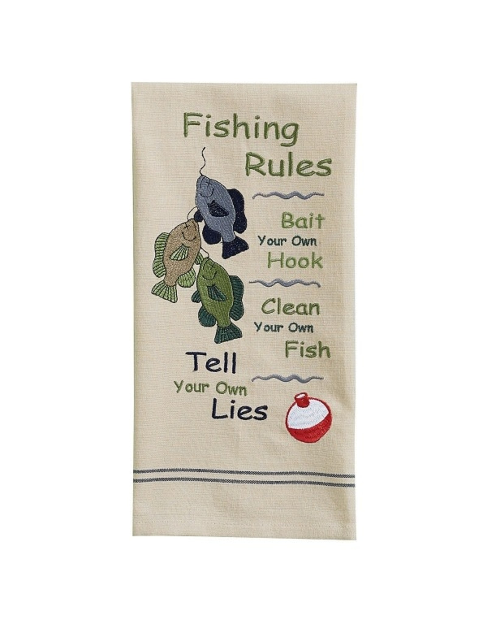 Park Designs FISHING RULES KITCHEN TOWEL