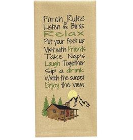Park Designs PORCH RULES KITCHEN TOWEL