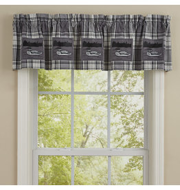 Park Designs GRAY AREA LOON  PATCH VALANCE