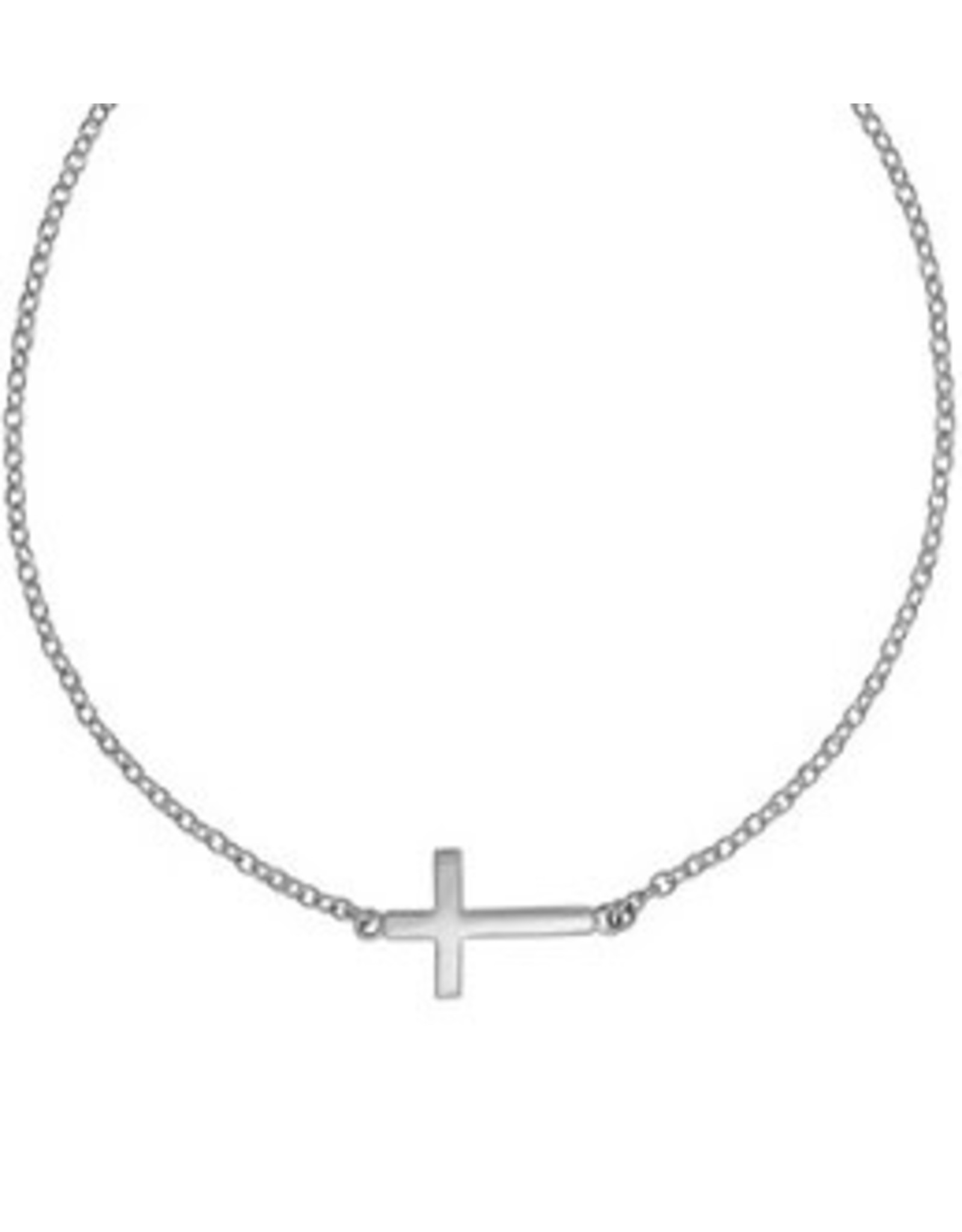 """Boma CROSS ANKLET 9.5"""" SILVER"""