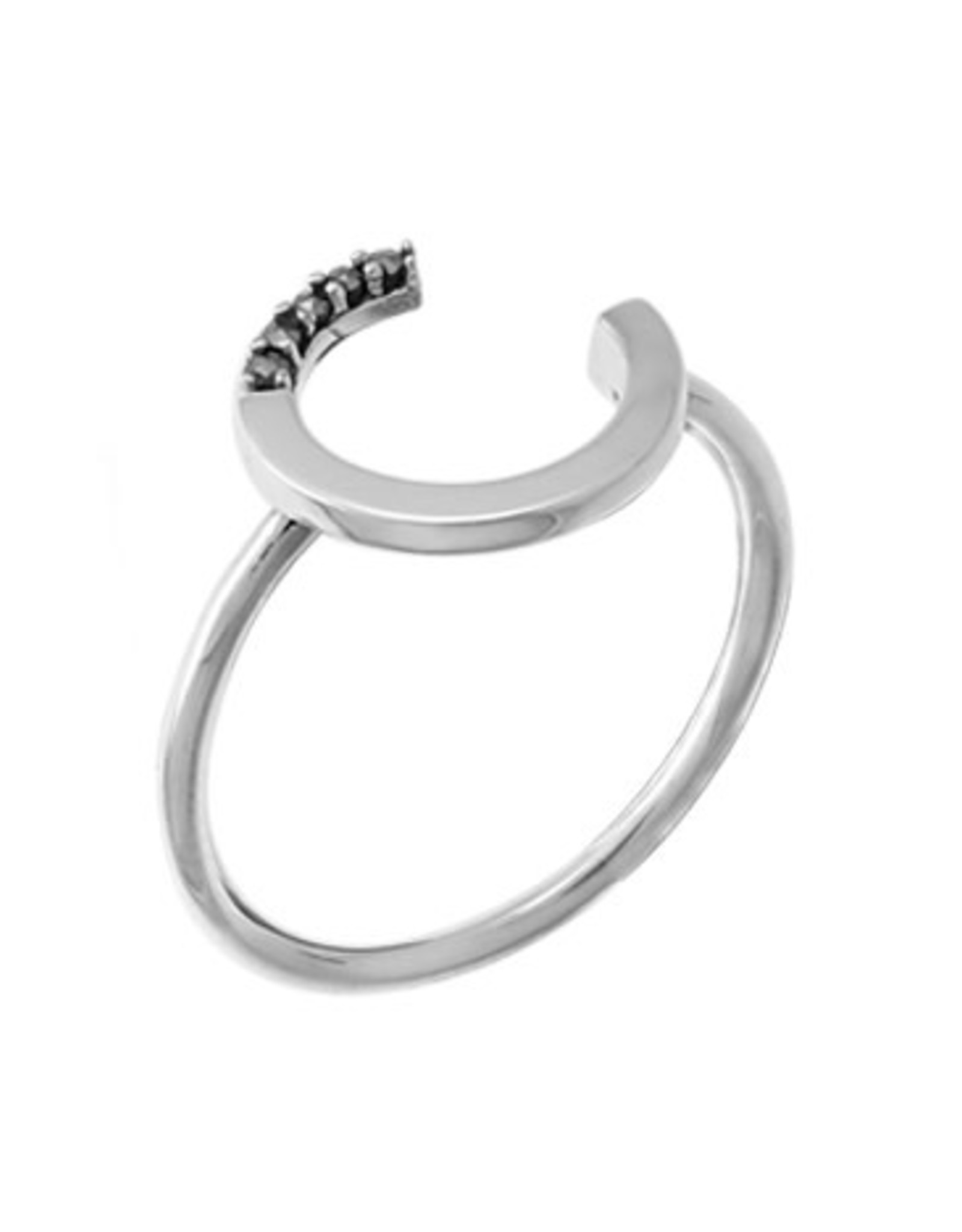 Boma OPEN CIRCLE MARCASITE RING