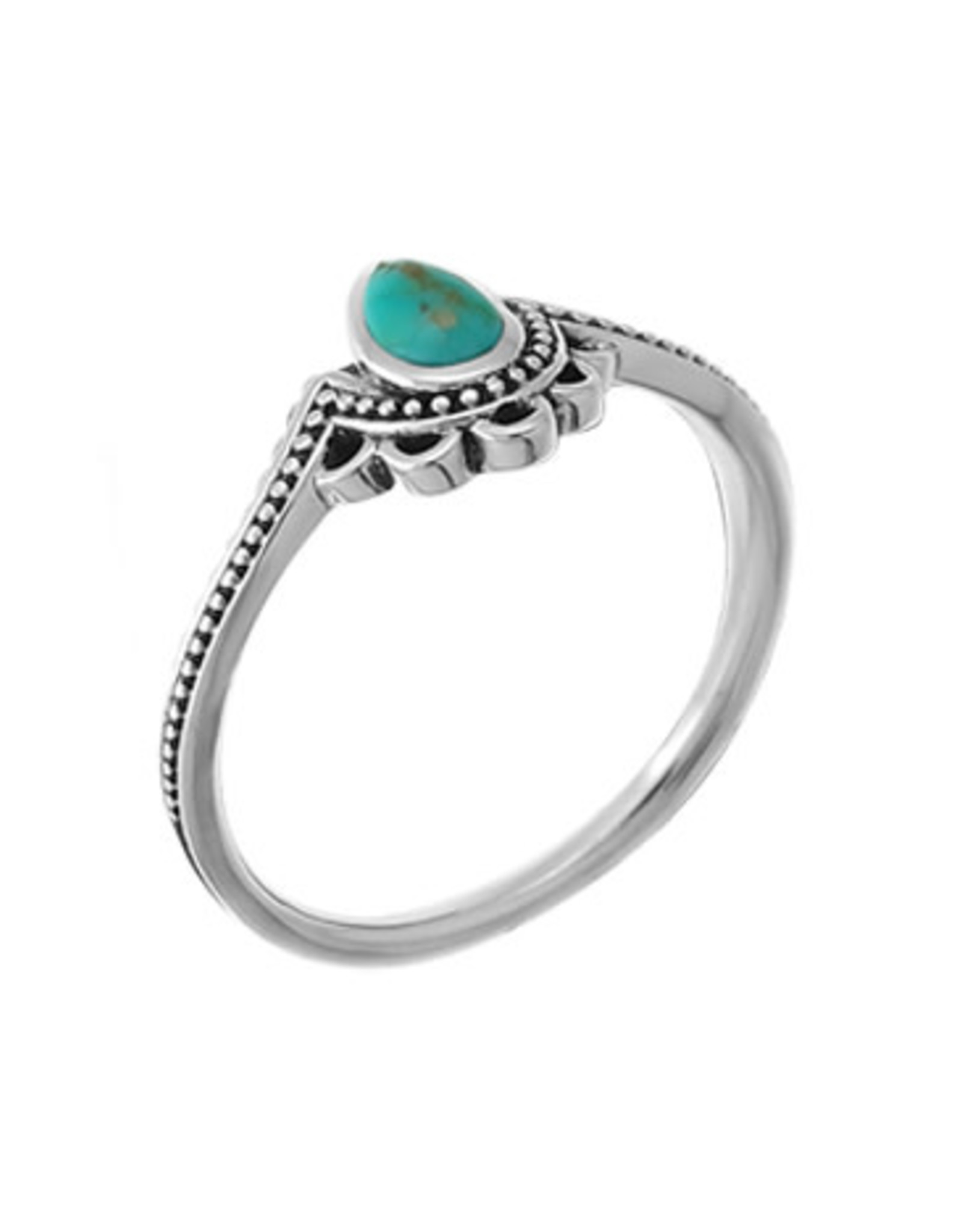 Boma FILIGREE TURQUOISE RING SILVER