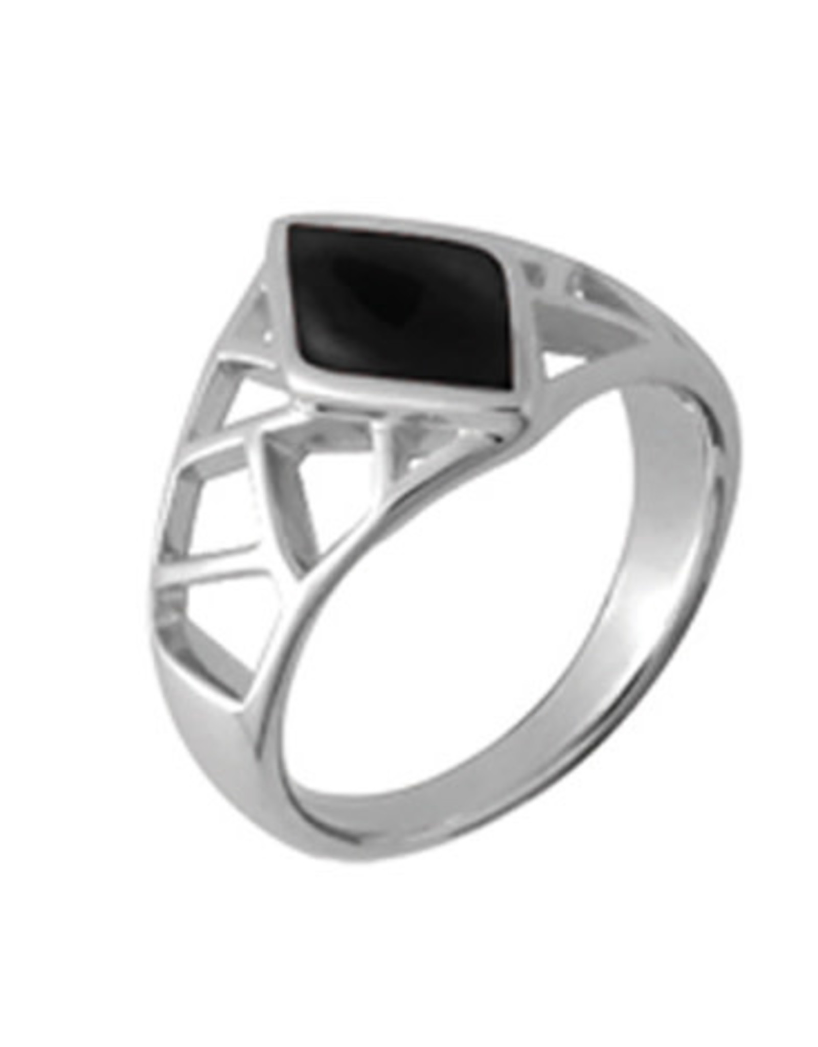 Boma BLACK ONYX RING SILVER