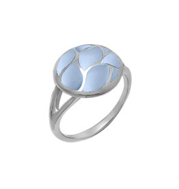 Boma MOSAIC BLUE MOTHER OF PEARL RING SILVER