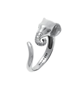 Boma ELEPHANT WRAP RING SILVER