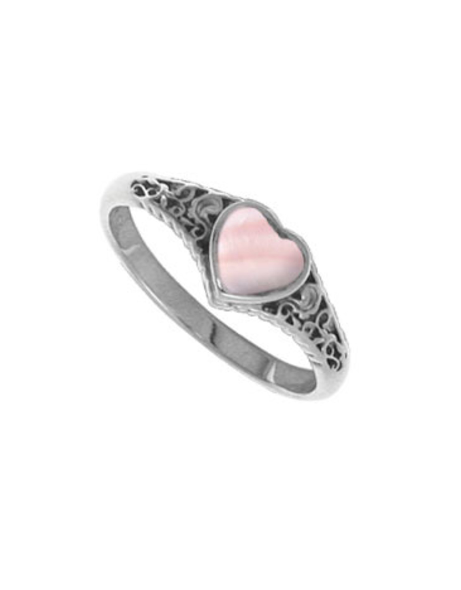 Boma HEART PINK SHELL RING SILVER