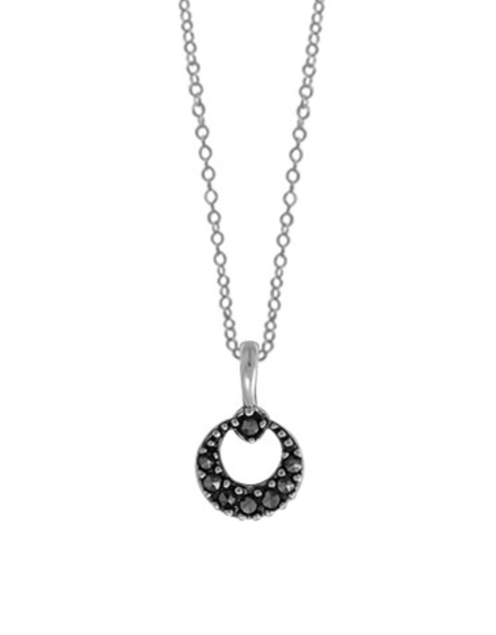 """Boma ROUND MARCASITE NECKLACE 18"""" SILVER"""