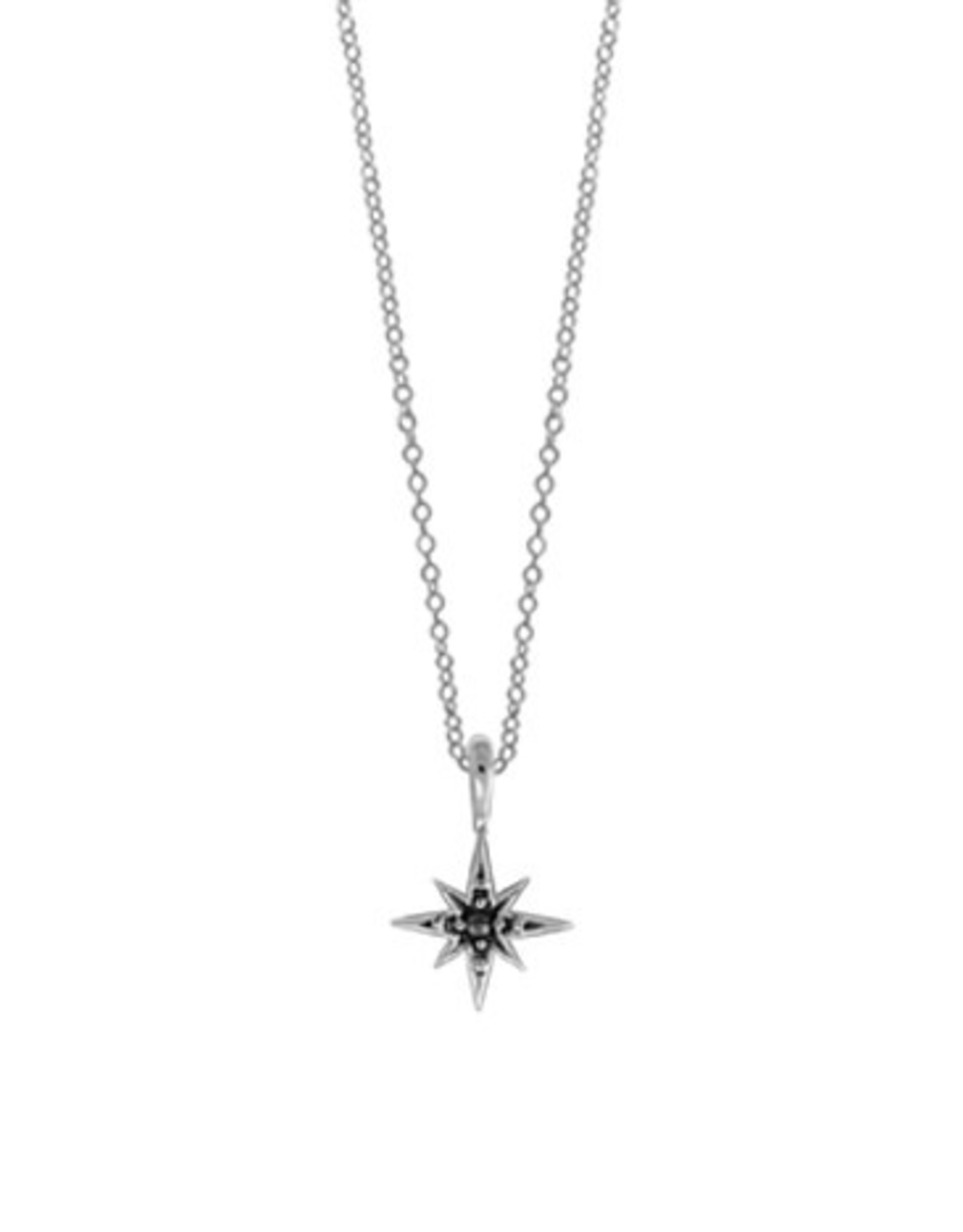 """Boma STAR MARCASITE NECKLACE 18"""" SILVER"""