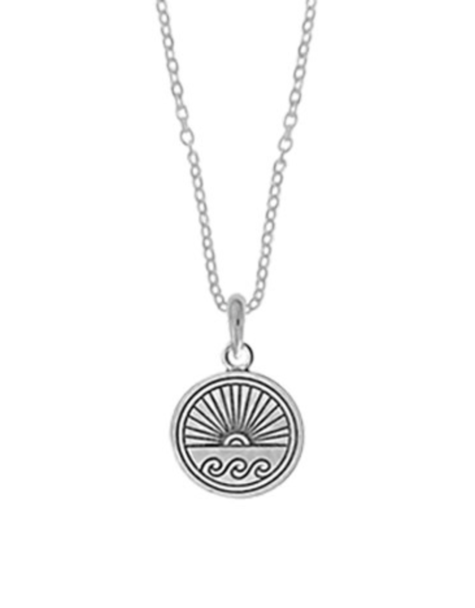 """Boma OCEAN SUNSET NECKLACE 18"""" SILVER"""